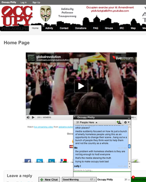 occupyphilly.org site screenshot